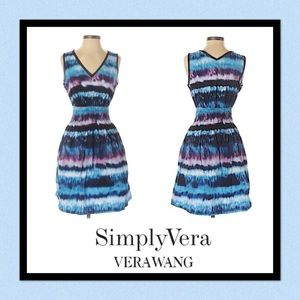 👗Simply Vera Vera Wang Tie-Dyed A-Line Dress